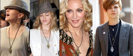 Celebrity with hamsa necklace