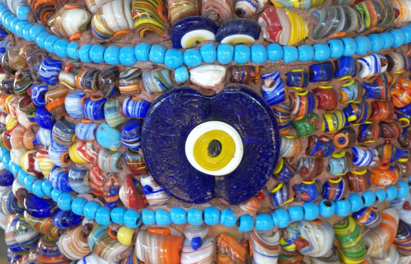 Handmade Turkish nazar evil eye beads in Turkey