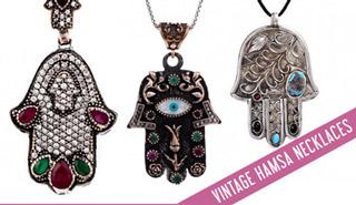 Vintage Hamsa Pendants