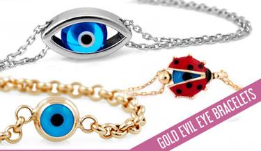 Evil eye gold bracelets
